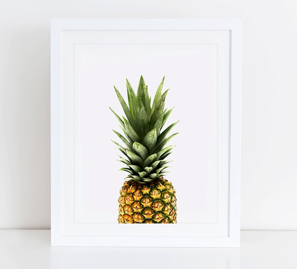 Pineapple Art Print Printable Pineapple Pineapple Print
