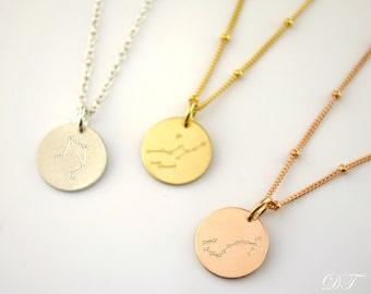 Constellation necklace, sagittarius, aquarius, pisces, aries, taurus necklace, Christmas gift, Birthday necklace, Astrology Zodiac necklace