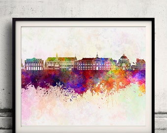 Belgium watercolor etsy for Scheper custom homes