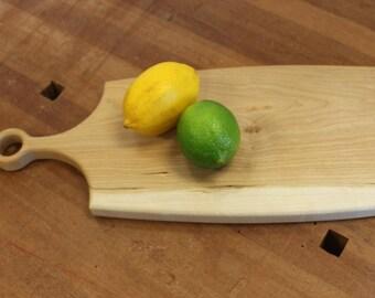 Hardwood Cutting Board, cheese board, cutting board, bread board, long Handle