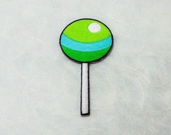 Lollipop Candy Iron on Patch (L) - Lollipop Candy Applique Embroidered Iron on Patch-Size 4.4x8.3cm