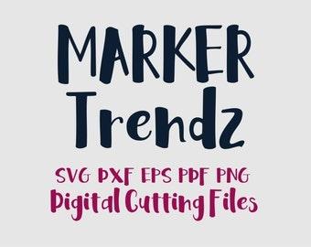 SVG Font Cut Files, Alphabet Cutting Letters in Svg Dxf Eps for Silhouette & Cricut, Vinyl Letters, Vector Letters A - Z Instant Download