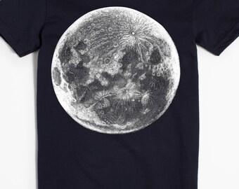 Moon T-shirt - Graphic Tee for Women - Women's shirt - Planet night sky