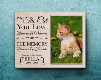cat memorial frame loss of cat pet bereavement gift pet memorial pet memorial frame cat loss pet memorial picture frame cat loss gift