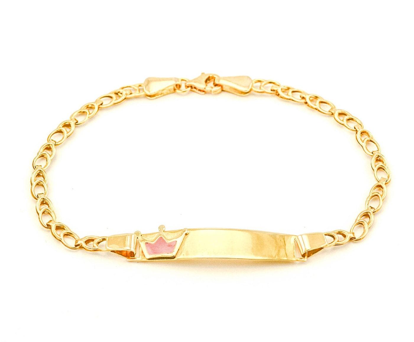 personalized gold baby id bracelet baby jewelry name bracelet