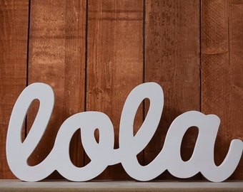 Custom Wooden Name Sign - Nursery - Baby Name - Lola - Wedding - Shower Gift - Baby Name Sign, Kid's room decor, Nursery Nesting