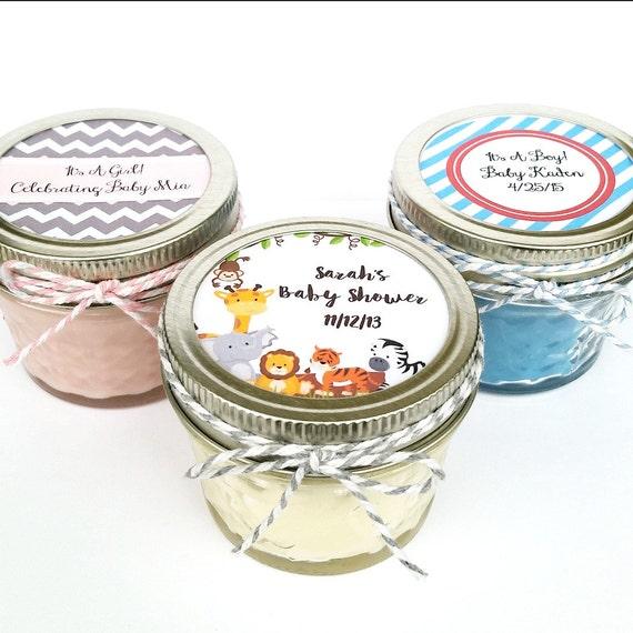 50 Baby Shower Favor Candles Mason Jar Favors Rustic