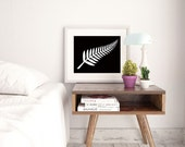 New Zealand Art Poster New Zealand Fern Print
