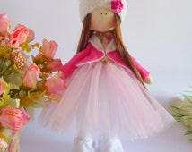 Handmade doll, ragdoll, toy,Tilda dolls, Decorative Doll, Little Girl toys,Fabric Doll,Home Decoration,textile doll ,Doll