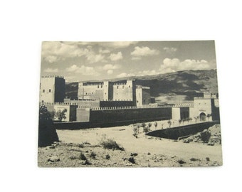 Marrakech  Postcard Moroccan Postcard Black and White   Postcard Paper Ephemera Unused Vintage Postcard Morocco Postcard
