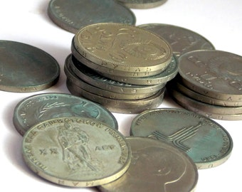 Collectible coins USSR, Rare coins USSR, Coins catalogue, 20 Coins 1 ruble, Copper-Nickel alloy, coin Collection, Coins USSR, Soviet money