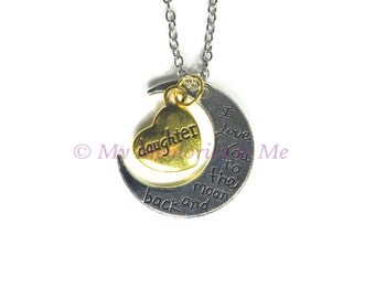 I Love You to the Moon and Back, Daughter - Necklace [P015]