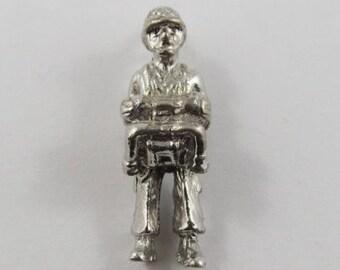 Paratrooper Sterling Silver Vintage Charm For Bracelet