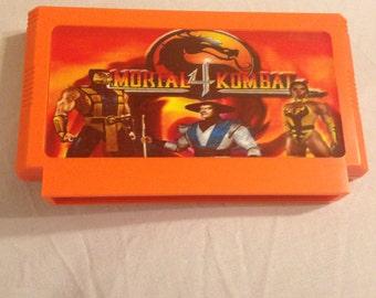Mortal Kombat 4 IV Custom NES 8bit Game. MK4 NES