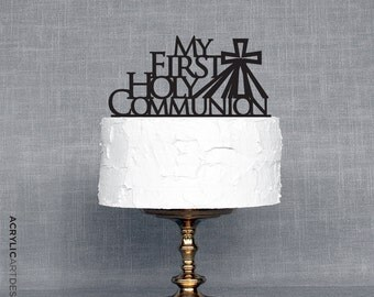 My First Holy Communion Cake Topper by Acrylic Art Design