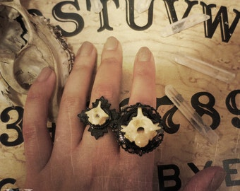 Large Python Vertebrae Ring, Bone Jewelry, Oddity