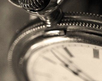 Vintage pocket watch photo, sepia tone finish, macro photo, watch photograph, antique watch, time piece,