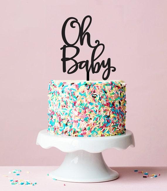 oh baby cake topper baby shower cake topper gender neutral shower
