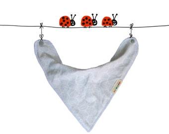 organic bib grey, grey drool bib, organic baby bandana bib, baby organic unisex, baby gift, newborn gift idea, drool bib, organic baby set