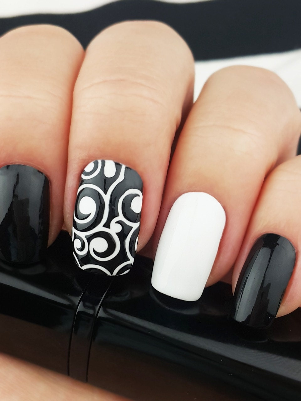 vine vinyl nail stencils incredible nail art stencils set by. Black Bedroom Furniture Sets. Home Design Ideas
