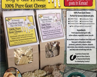 Curious Goat Dog & Cat Treats - 100% Pure Goat Cheese