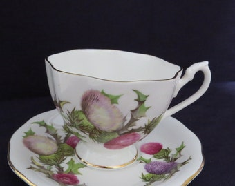 "Queen Anne ""Dundee Thistle"" tea cup"