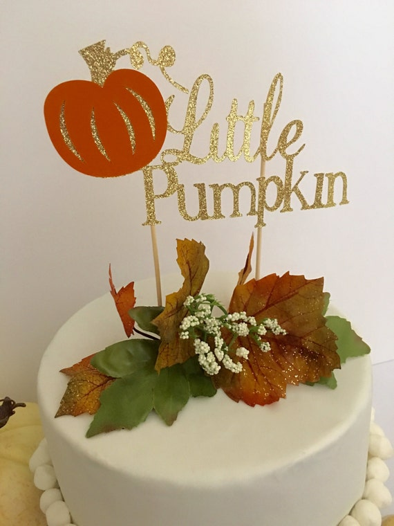 Little Pumpkin Baby Cake Topper