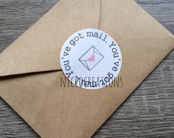 20 You've got mail labels   packaging labels   Envelope seal
