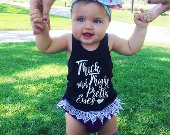 Thick Thighs & Pretty Eyes - Baby Girl Tank Top - Trendy Shirts - Chubby Thighs - Toddler Girl - Trendy Baby - Hipster Baby - Pretty Eyes