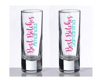 Best Friend Shot Glass, Best Bitches Shot Glass, Personalized Gift, Personalized Shot Glass, Birthday Shot Glass, Bridesmaid Gift, Shot