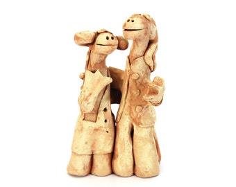 Wedding Gifts For Art Lovers : ... wedding present, original clay art gift, couple gift, gift for lover