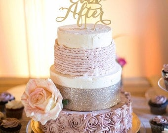 Happily Ever After Wedding Cake Topper.