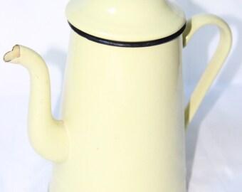 Enamelled yellow coffee