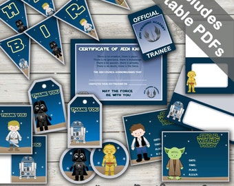 Star Wars Party Printables. Includes Editable Invitations and Decorations. Instant Download.