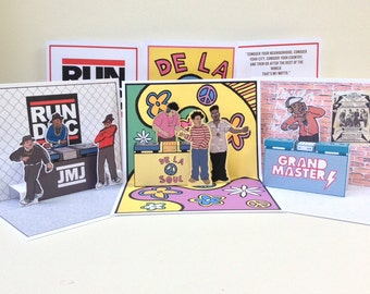 Hip-Hop-Pop-Up Cards Collection - Set of 3