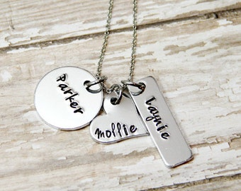 Name necklace for kids - Gigi Necklace - Hand stamped necklace - Personalized  - Adoption Gift - Gotcha Day Gift