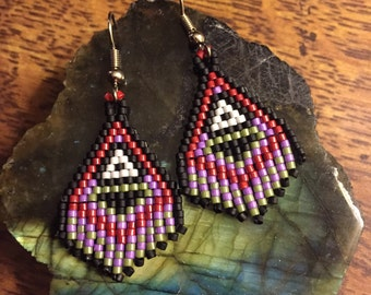 Mini Monsters Dancing - Beaded Earrings