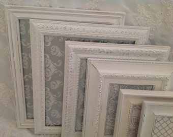 Shabby Chic Picture Frame Set Ornate Mix Custom Colors And Sizes Vintage Picture Frame Collage Upcycled