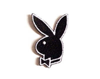 PLAYBOY patch Embroidered patch Sew on patch Iron on patch Applique