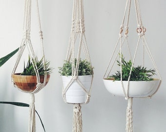 Macrame Plant Hanger, Plant Holder, Hanging Planter, Pot Holder, Cotton Plant Holder, Modern Macrame, Plant Pot Holder, Bohemian Decor