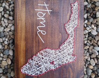 Florida string art home state sign