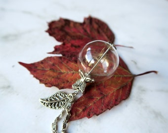 Dandelion Wish Necklace in Silver Glass Vial