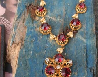 Vintage necklace, Gothic jewellery, Wedding jewelry, Austro Hungarian, Gothic Wedding, Baroque jewelry, Elizabeth 1st jewelry, Boho,