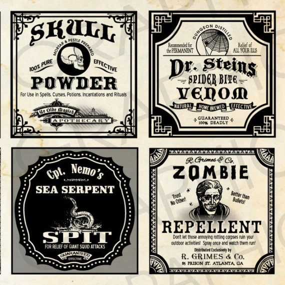 Adaptable image with regard to free printable halloween poison bottle labels
