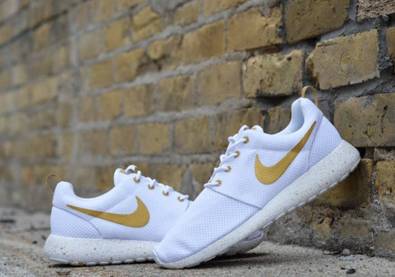 c36809a5906d ... New Custom Nike Roshe Run White Trophy Made To Order Any Siz New Custom  Nike Roshe Run 2 OVO Any Size Made To Order Gold ...