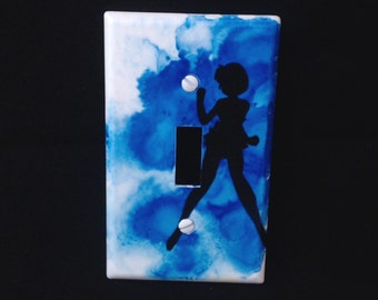 Hand painted Sailor Mercury light switch cover