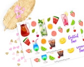 Cocktail sticker, life planner sticker for kikki k, filofax or erin condren