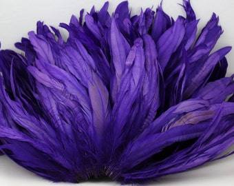 "Regal 8"" - 10"" strung coque rooster tail feathers"