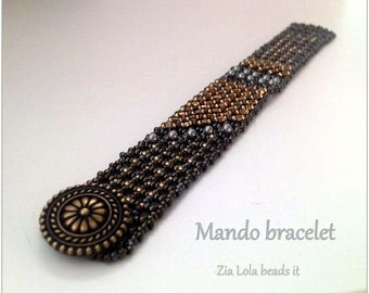 Instant download-Mando beaded bracelet tutorial