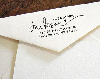 Personalized Self Inking Return Address Stamp - self inking address stamp - Custom Rubber Stamp